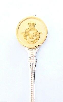 Royal Air Force RAF Gilt Badge Silver-Plated Collector's Spoon