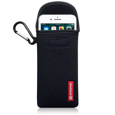 Shocksock Neoprene Pouch Case with Carabiner for iPhone 7 Plus / 8 Plus - Black