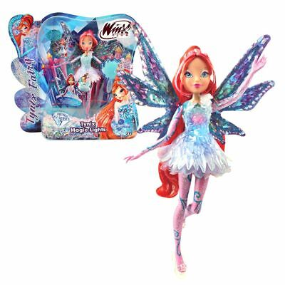 Bloom | Tynix Magic Lights Puppe | Winx Club | Fee mit magisches Gewand & Licht