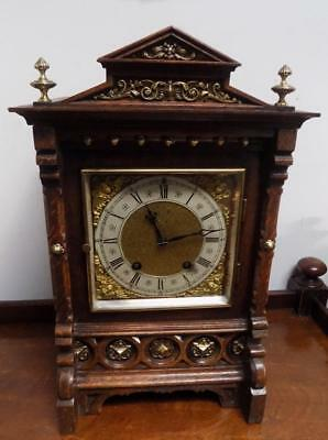 oak cased lenzkirch ting tang bracket clock c1900s