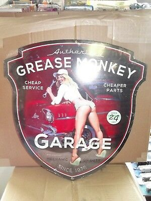 Grease Monkey garage shield  garage sign Metal not tin New