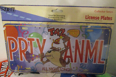 NEW Taz Tazmanian Devil Looney Tunes PRTY ANML Party Animal License Plate