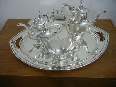 Antique Sterling Silver 6 Piece Tea Service 'Portsmouth' by Gorham