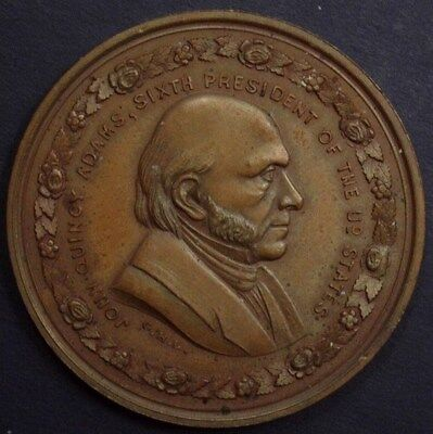John Quincy Adams Lovett Medal - Presidential Residences Medal  Gem Proof Rb