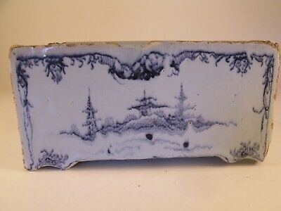 Very Rare Mid 18th Century English Delft Flower Brick Probably Liverpool c1760