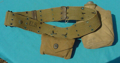 Wwii Us Canteen/cover Web Belt/ First Aid Pouch/ Bandage