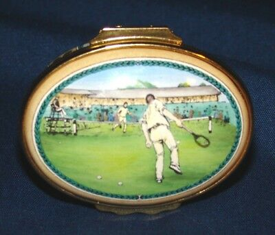 Halcyon Days Wimbledon 1888 Tennis Oval Trinket Box