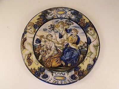 2) A Finely Painted Italian 18th Century Castelli Maiolica Pottery Plate - c1760