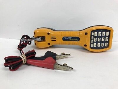 Fluke Networks Ts30 Lineman Telephone Test Set W/angled Bed-Of-Nails (Abn) Clips