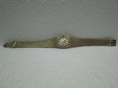 VINTAGE Coca~Cola BULOVA ACCUTRON LADIES WRIST WATCH 10K GOLD FILLED H01453