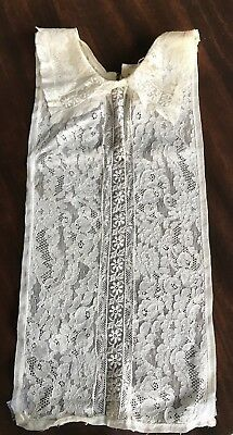 Antique Net Lace Embroidered Collar