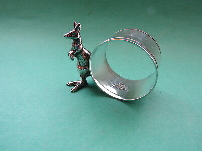 Vintage Figural Napkin Ring with Kangaroo