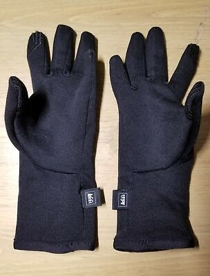 REI Boys Girls Unisex Tech Compatible All Season Black Gloves S (8)