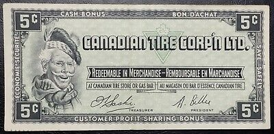 CTC S1-B-H Vintage 1961 Canadian Tire 5 Cents Note -HIGH GRADE-Free Combined S/H