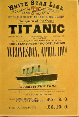 R.M.S. Titanic...Advertisment...Mayfair Cards of London