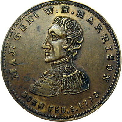 1840 William Henry Harrison Political Campaign Hard Times Token HT-815G