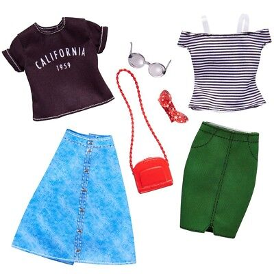 Casual Cool   2 Trend Fashion Set   Barbie   Mattel FKT30   Doll Clothes