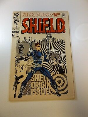 Nick Fury Agent of SHIELD #4 VG- condition Huge auction going on now!