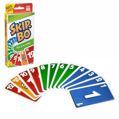 Skip-Bo Card Game   Mattel 52370   162 Picture Cards   Family Card-Game