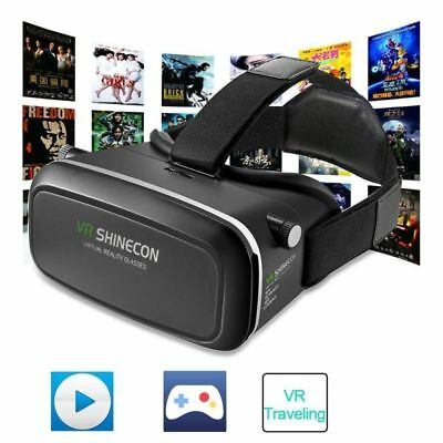 "3D Virtual Reality Movie Game VR Glasses 3.5-6"" Android IOS Smartphone SHINECON"