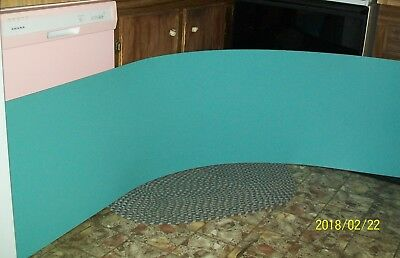 VTG 50's/60's Formica counter top TURQUOISE BLUE NOS MidCentury Kitchen Camper