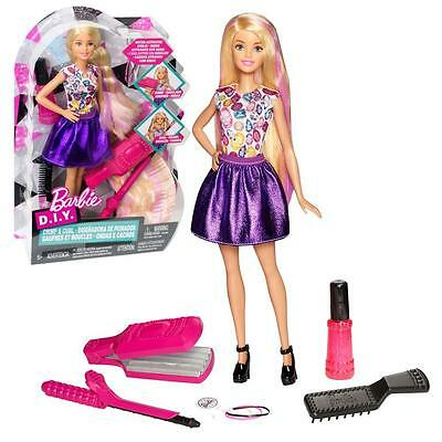 Crimps & Curls   Mattel DWK49   Do it Yourself Play Set with Doll   Barbie