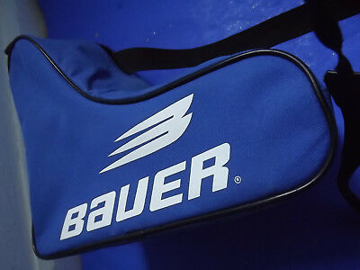 Bauer Junior Ice Skating Carry Protection Blue Canvas Zip Up adjustable Strap Ba