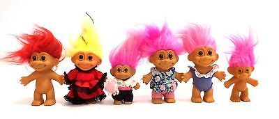 Collection Of x7 Vintage RUSS TROLLS Dolls / UNBOXED - A05
