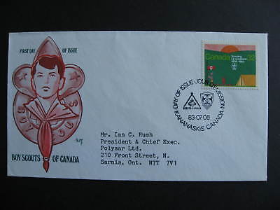 Canada Marg cachet FDC first day cover, Boy Scouts, Scouting Sc 993