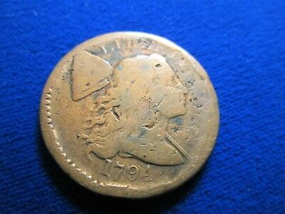 1794 AG Liberty Cap Large Cent Strong Date Cleaned & Scratched