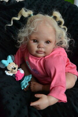 Ooak Reborn newborn real life  baby girl Courtney    Baby art doll