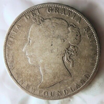 1900 NEWFOUNDLAND 50 CENTS - Hard to Find Rarity - Big Catalog Value Coin - #522