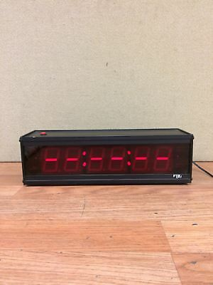 FTR GOLD CC186-499 DOUBLE SIDED LARGE DISPLAY DIGITAL COURT CLOCK w/AC Adapter