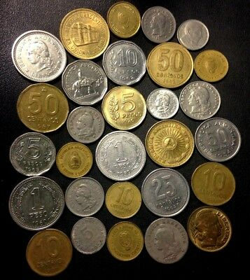 Old Argentina Coin Lot - 1920-Present - 29 Great Coins - Lot #522