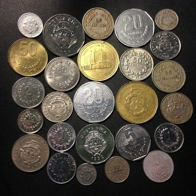 Old Costa Rica Coin Lot - 1935-Present - 26 Great Coins - Lot #522