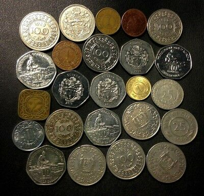 Old SURINAME/GUYANA Coin Lot - 24 VERY Low Mintage Coins - Lot #522