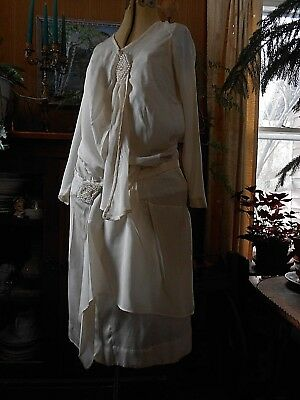 Vintage Antique 1920's Art Deco Era Dress Fabulous 38-34-42