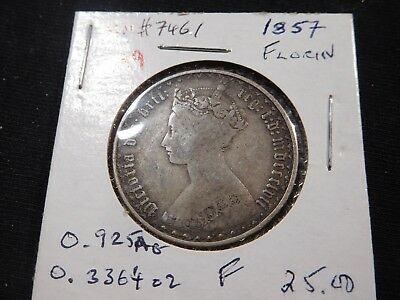 A9 Great Britain 1857 Gothic Florin KM-746.1