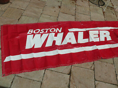 Boston Whaler Boats Yachts Dealer Marine Old Sign Banner 33 X 105