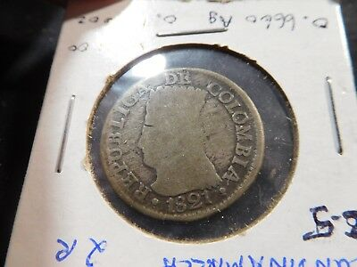 A63 Colombia 1821 2 Reales C-5