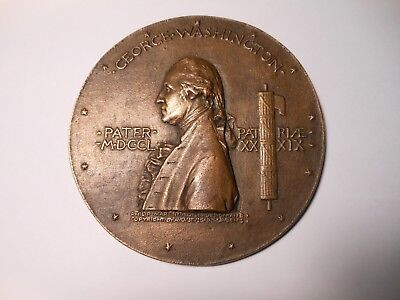 Washington Inaugural Centennial 1889 Large Bronze Medal