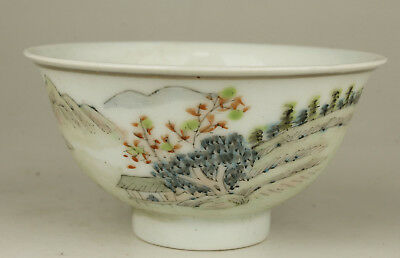 China Collectible Handwork Painting Famille-Rose Porcelain Cup