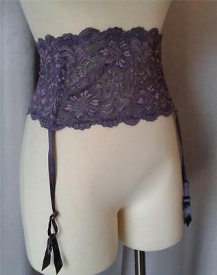 PIN-UP Vintage LAVENDER LACE WAIST CINCHER GARTER BELT -sz XXL