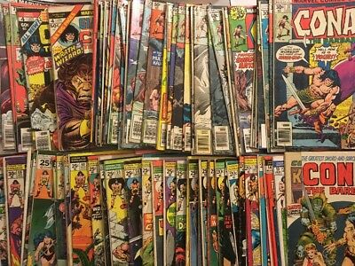 Huge Marvel Conan The Barbarian Comic Lot Of 80