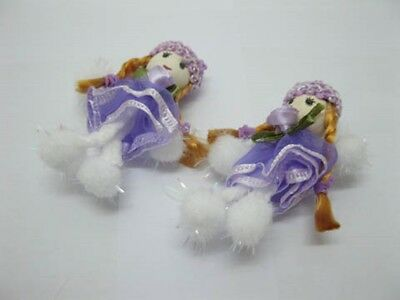 98 Purple Hand Craft Gauze Lace Doll Embellishments