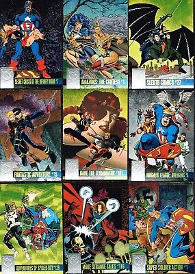 Complete Marvel Amalgam Powerblast 1996 Fleer Skybox Chase Insert Cards Set of 9