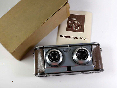 Stereo Realist 45 camera in box w/instructions, nice collectible! AS IS – RL