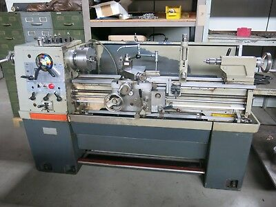 """Clausing Colchester 13x40"""" Lathe Aloris Toolpost, Steady Rest, Threading Attach"""