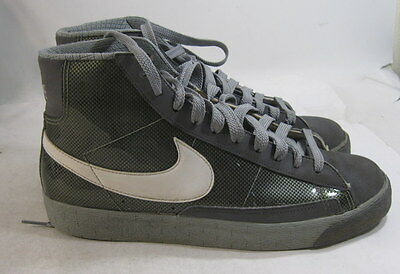 big sale bb07d 84907 NIKE BLAZER HIGH Black White Dark Grey 316664-004 Size 9.5