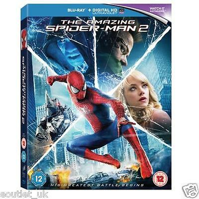 THE AMAZING SPIDER-MAN 2 2014 Película Blu-Ray Digital UV Nuevo y Sellado